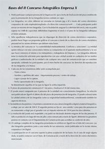 Texto para empresa - Concurso fotográfico
